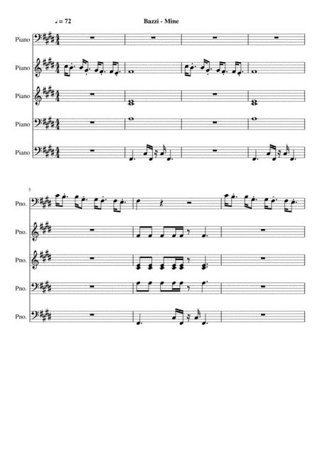Download Bazzi - Mine (Official Midi File Download) Sheet Music By
