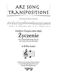 Życzenie, Op. 74 no. 1 (B-flat major)