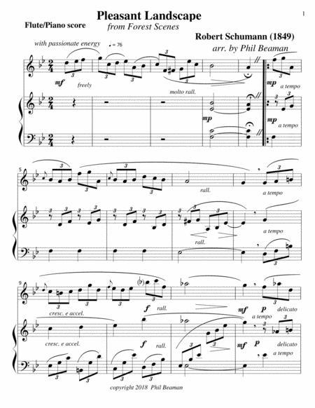 Pleasant Landscape-Schumann-Flute-Piano
