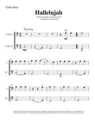 Hallelujah - Easy Cello Duet (2 cellos)