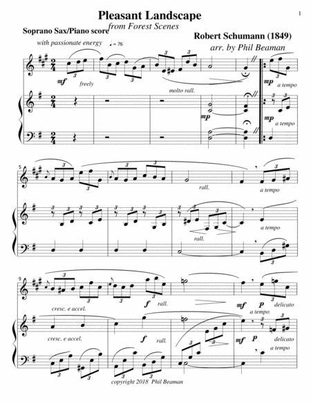 Pleasant Landscape-Schumann-Soprano Sax-Piano