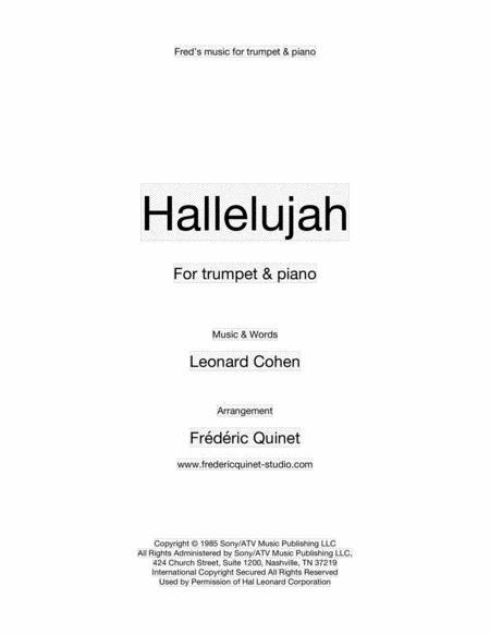 Hallelujah for trumpet & piano