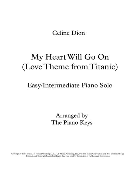 My Heart Will Go On (Love Theme from Titanic) Easy/Intermediate Piano Solo