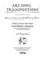 Leci liście z drzewa, Op. 74 no. 17 (F-sharp minor)