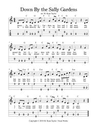 Down by the Sally Gardens : Easy Ukulele Tablature with Lead Sheet & Chords