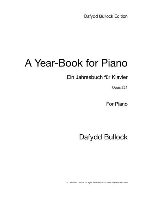 A Year Book for Piano - Ein Jahresbuch für Klavier Opus 221
