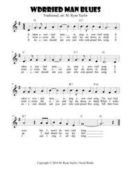 Download Worried Man Blues : Easy Ukulele Chords Sheet Music