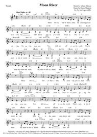Download Moon River Vocals Wchords Key G Major Sheet Music By