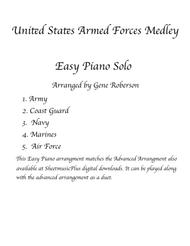 Armed Forces Medley EASY PIANO