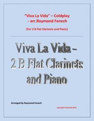 Viva La Vida - Coldplay- 2 B Flat Clarinets and Piano with optional Drum Set