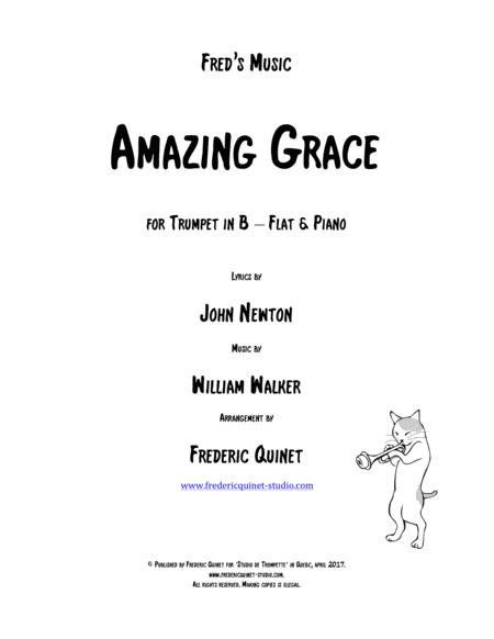 Amazing Grace for trumpet & piano