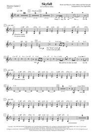 Skyfall (E-Guitar 1 and 2, transcription of the original Adele recording for James Bond)