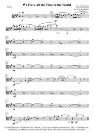 We Have All The Time In The World (Viola, Play-a-long the viola part of the Louis Armstrong recording for James Bond)