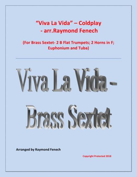 Viva La Vida - Coldplay- Brass Sextet with optional Drum Set
