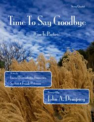 Time To Say Goodbye (String Quartet for Three Violins and Cello)