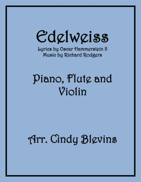 Edelweiss, arranged for Piano, Flute and Violin
