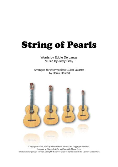 A String Of Pearls for Guitar Quartet/Large ensemble