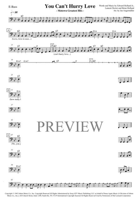 You Can't Hurry Love (E-Bass, transcription of the part from the original Supremes/Motown recording)