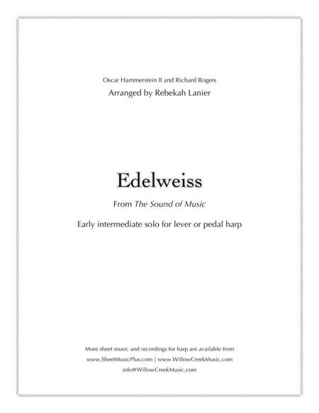 Edelweiss - easy solo for lever or pedal harp