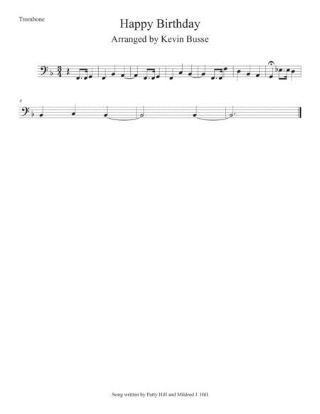 Happy Birthday - Trombone