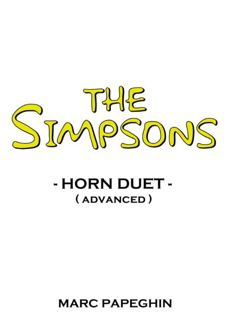 The Simpsons Theme // French Horn Duet ( advanced level )