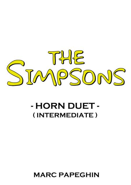 The Simpsons Theme // French Horn Duet ( intermediate level )