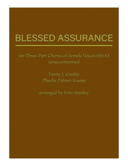 Blessed Assurance - SSA A Cappella