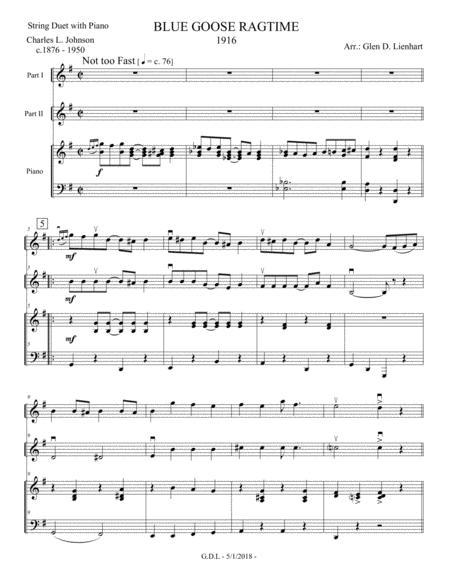 Blue Goose Ragtime - String Duet