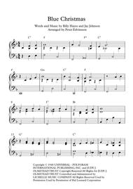 Blue Christmas - Easy piano sheet music