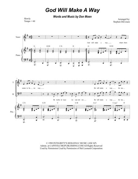 God Will Make A Way (for SATB)