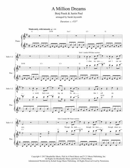 A Million Dreams (SATB) by Benj Pasek and Justin Paul, arranged by Sarah Jaysmith