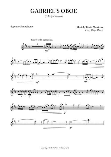 Gabriel'S Oboe (Nella Fantasia) for Saxophone Quartet