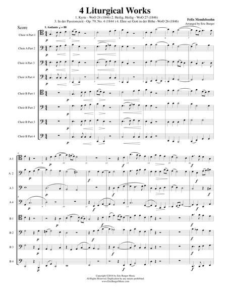 4 Liturgical Works by Mendelssohn for Trombone or Low Brass Octet