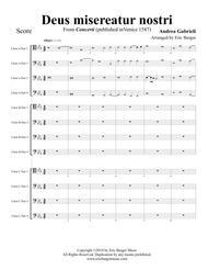 Deus misereatur nostri for Trombone or Low Brass Duodectet (12)