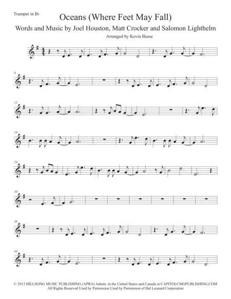 Oceans (Where Feet May Fail) - Trumpet
