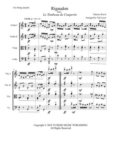 Rigaudon from Le Tombeau de Couperin (Score)