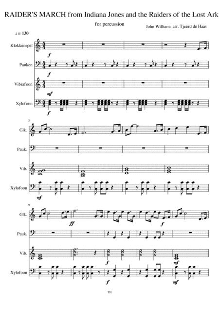 Indiana Jones theme for percussion