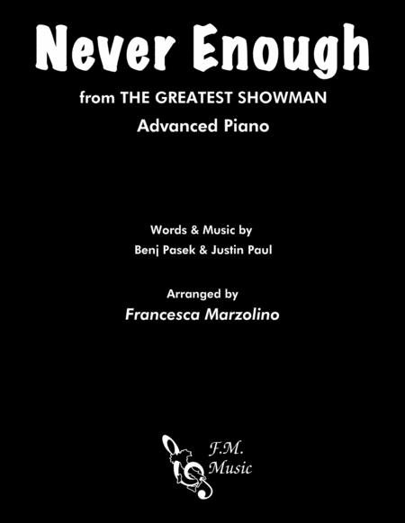 Never Enough from The Greatest Showman (Advanced Piano)