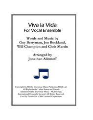 Viva La Vida for Vocal Ensemble