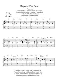 Beyond The Sea - Easy piano sheet music