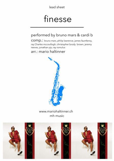 Finesse - Bruno Mars - Tenor Sax