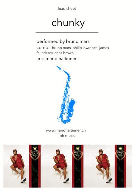 Chunky - Bruno Mars - Alto Sax