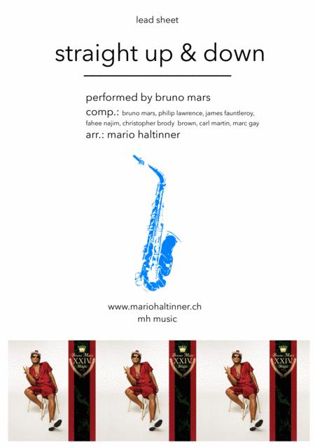 Straight Up & Down - Bruno Mars - Tenor Sax