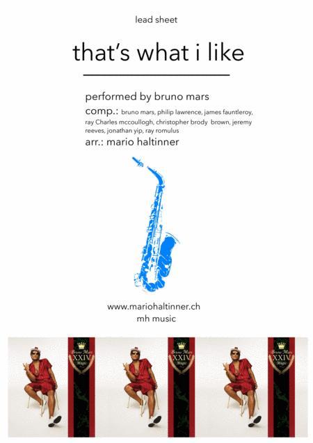 That's What I Like - Bruno Mars - Alto Sax