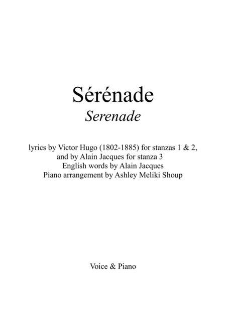 Sérénade (Gounod / Victor Hugo / Alain Jacques)
