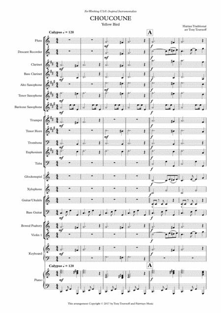 Download Yellow Bird Mixed Ensemble Sheet Music By Haitian