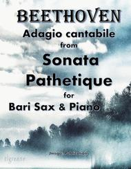 Beethoven: Adagio from Sonata Pathetique for Baritone Sax & Piano