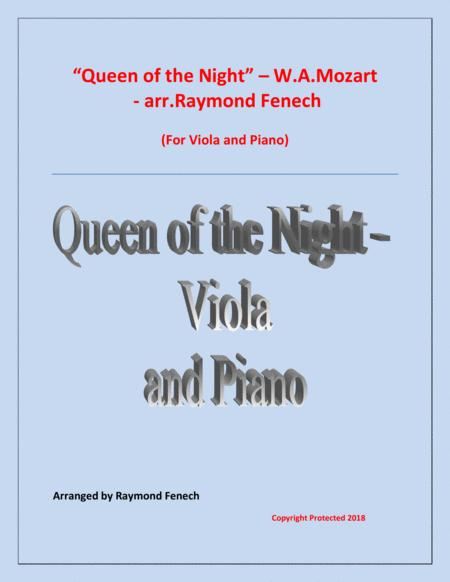 Queen of the Night - From the Magic Flute - Viola and Piano
