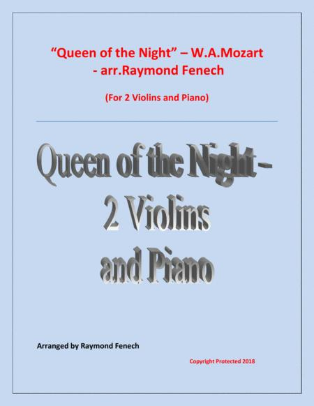 Queen of the Night - From the Magic Flute - 2 Violins and Piano