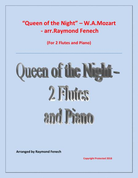 Queen of the Night - From the Magic Flute - 2 Flutes and Piano